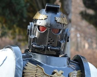 MADE TO ORDER* Warhammer 40.000 Black Templar power armor for cosplay larp space marine 40k grimdark astartes powerback Ultramarine Imperium