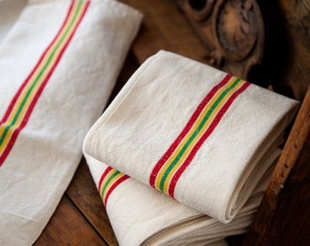 3 Vintage French Tea Towels – Pure Linen – Unused – No Monogram – Free Shipping within the USA