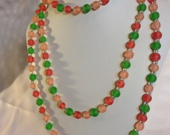 Red and Green Resin Necklace