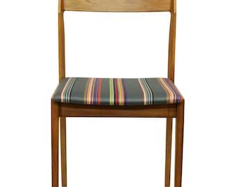 Pair of Danish-style Chairs in Designer Paul Smith Fabric