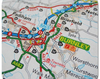Burnley Map Coasters