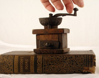 Unique Antique Coffee Grinder Related Items Etsy