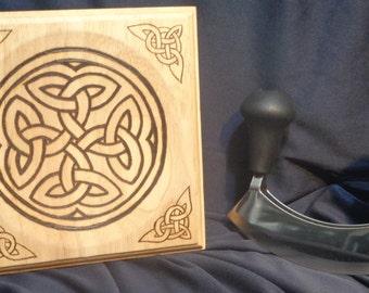 Chopping Board and Mezzaluna Set