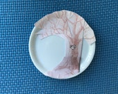 "Set of 6 Porcelain 4"" Coaster with custom design"
