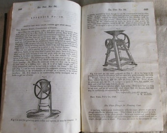 Antique Book Patent Office Report 1847 Annual Report of the Commissioner of Patents 1848