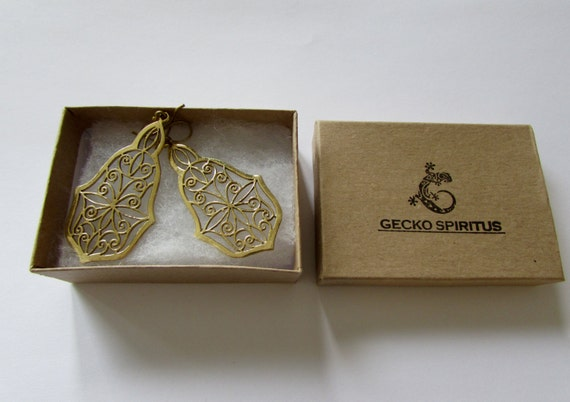 Tribal Floral Hanging Earrings Tribal Earrings Boho Gypsy Jewellery Belly Dance Jewellery Free UK Delivery Gift Boxed BG10
