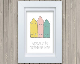 New Home, Moving, New House Personalised Framed Print, Wedding Gift