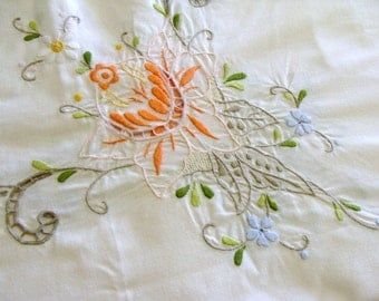 Gorgeous Shabby Chic Embroidered Tablecloth