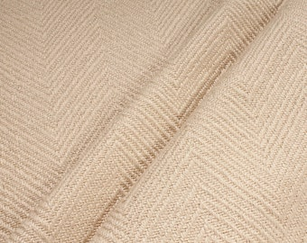 Fabric linen cotton polyester herringbone nature upholstery 35.000 Martindale