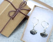 Silver Seashell Earrings,...