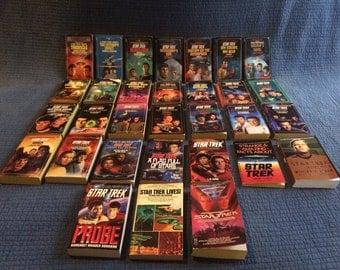 31 Star Trek Book Collection/Vintage Star Trek
