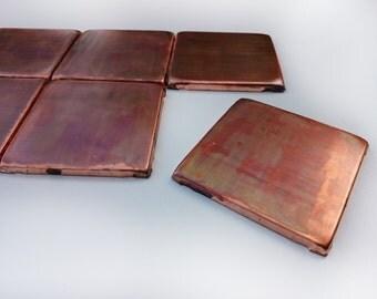 accent tiles backsplash set of 8 brown patinated copper tiles copper decor