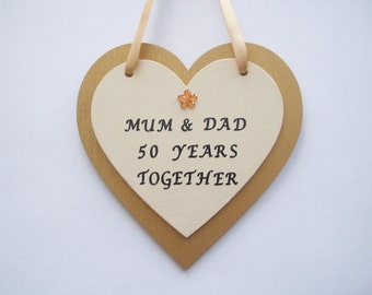 Personalised 50th/Golden wedding anniversary gift.