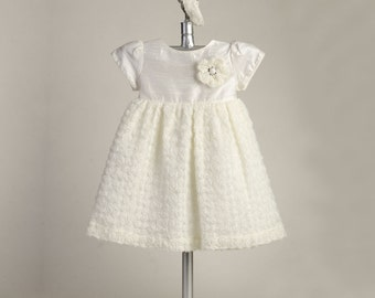 Mini-Rosebud Dress, BE6399 Christening Gown, Baby Dress, Catholic Dress, Baptism Dress, Blessing Dress, Baby Outfit, Lace Christening Dress