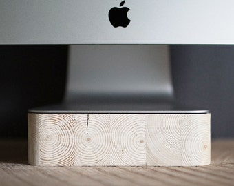 iMac, Thunderbolt Computer Stand, Apple Computer, Pine Wood, Handcrafted, Handmade, Made in Canada