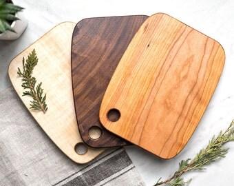 Walnut, Maple & Cherry Wood Serving Boards - Set of 3