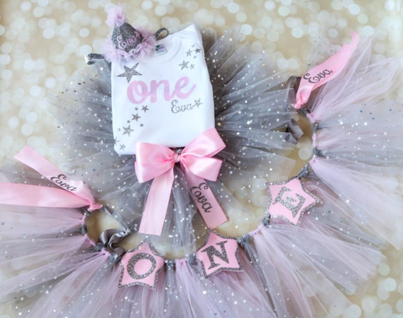 Twinkle Little Star Outfit - First Birthday Outfit - Smash Cake Outfit - 1st Birthday Tutu - Star Birthday - Girls Birthday - Personalized