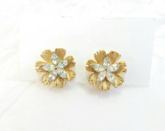 Vintage BSK rhinestone earrings