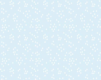 SALE!! 1 Yard When Skies are Grey by Simple Simon and Co. for Riley Blake Designs - 5603 Skies Rain Blue
