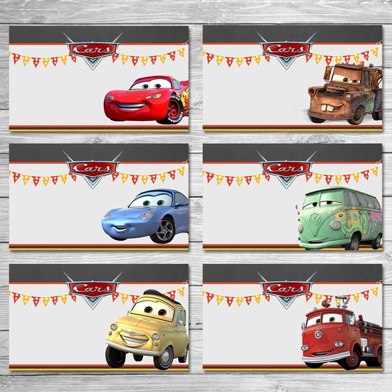 disney cars food tents chalkboard   cars food labels