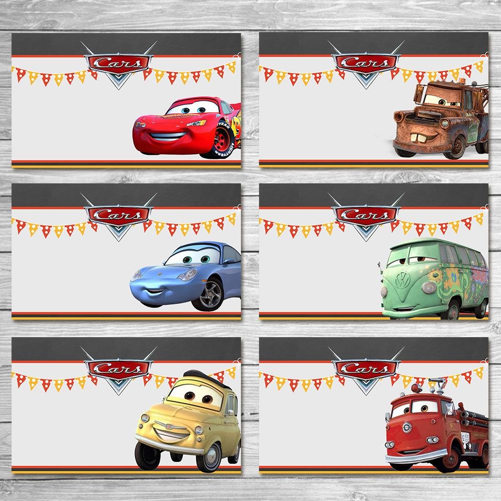 Disney Cars Food Tents Chalkboard