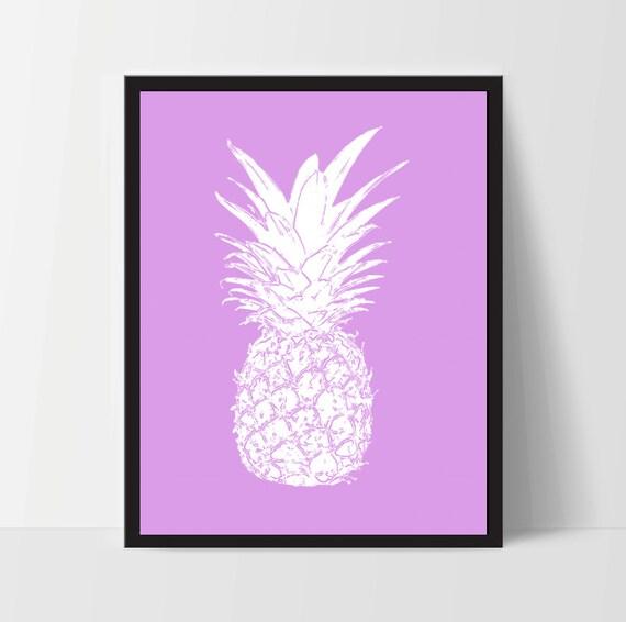 Https Www Etsy Com Listing 469827101 Magenta Pineapple Wall Art Artwork Home