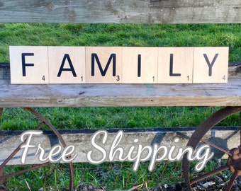 5x5 Large scrabble tiles FREE SHIPPING!!!!!