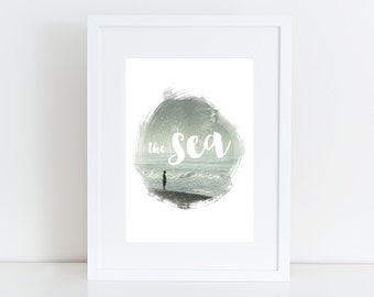 The Sea - Print art , Photography, Instant download
