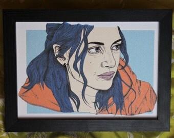 Clementine Eternal Sunshine of the Spotless Mind Art Print