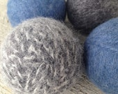 Large Felted Wool Dryer Balls Eco - 100% Wool - Set of 4 Large Eco Dryer Balls
