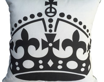 Crown Linen Cushion/Pillow Cover
