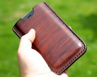 Handmade Leather iPhone Sleeve Case iPhone 6/6S/7, Brown