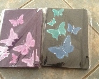 Journal (hand painted by kioloablue) beautiful butterflies