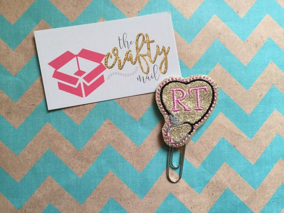 RT/Respiratory Therapist/Stethoscope Paper Clip/Planner Clip/Bookmark.