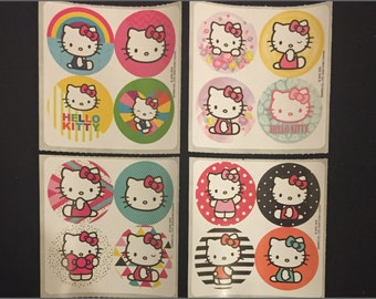 Hello Kitty Stickers Dots - Envelope Seals, Party Favours, Reward Charts for Parents, Merit Awards for Teachers - Dot Bulk