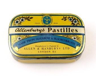 Vintage Allenburys Pastilles Tin -  Allen & Hanbury's Ltd. London, England