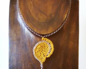 Crochet necklace-handmade-