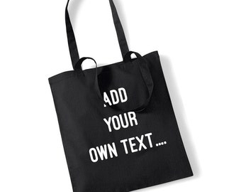 Custom Print Make Your Own Shopping Shopper Hen Do Gift 100% Cotton Bag UK Ships Worldwide