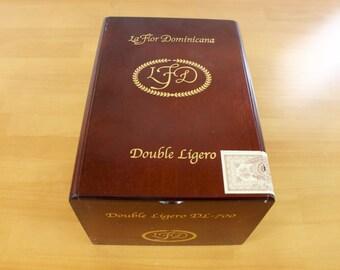 LFD LaFlor Dominicana wooden cigar box