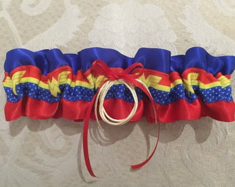 Wonder Woman wedding garter
