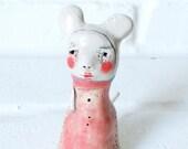 Handmade Ceramic Porcelain Art Figure -Contemporary  Modern Pottery - Sailor