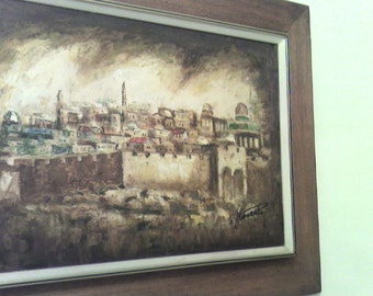 Jerusalem Rare oill painting