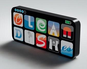 NEW Clean / Dirty Dishwasher Magnet Flip Sign - Super Strong Durable, Waterproof Reversible Dishwasher Magnet