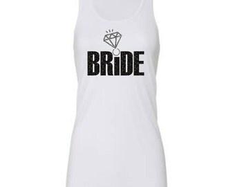 Bride Rhinestone Shirt, Diamond, Rhinestone,Bachelorette Party Shirt,Wedding,Wedding Tank,Bridal Party,Bride,Wedding Apparel,Engagement Gift