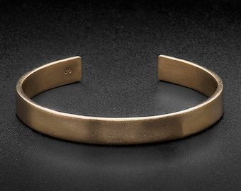 Brass 8mm Cuff Bracelet