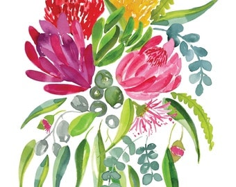 Season's greetings - Australian Natives - A6 Greeting Card