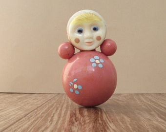 Soviet Vintage Roly Poly Doll/ Nevalyashka/