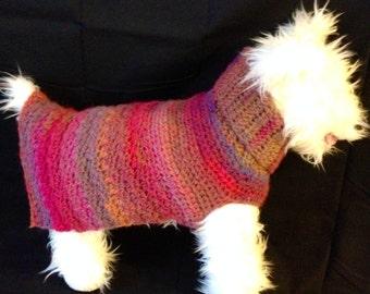 Aurora Borealis, Wool Dog Sweater, pink dog sweaters, knit dog sweater, small dog sweater, dog sweaters, dog sweater, wool dog sweaters