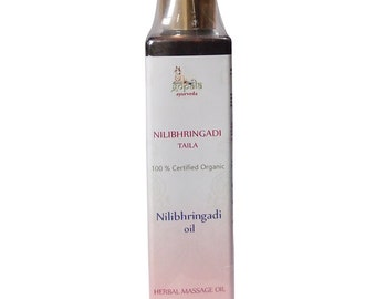 Nilibringadi Hair Oil (USDA Certified Organic) - Gopala Ayurveda