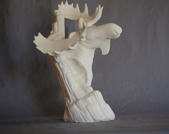 "Doc Holliday Driftwood Moose 12 1/2"" x 9"""